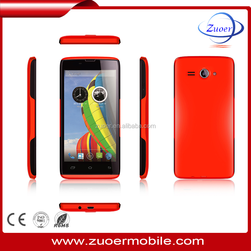 Android 5.1,5.0inch MTK6572 Dual core 1.2Ghz Processor Feature smartphone / 4 sim card mobile phone wholesale