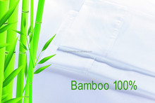 Double size 250TC Bamboo bed sheet set or 300TC bamboo sheet sets made in china
