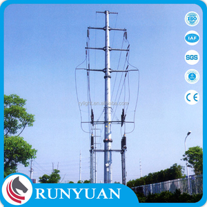 Factory Customized electric pole used for 400kv transmission line towers