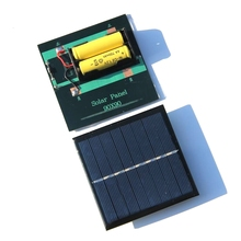 BUHESHUI 1W 4V 2V Solar Panel With Base For AAA Battery Solar Cell For 1.2V 2xAA 2XAAA Rechargeable Battery Charging Directly