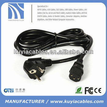 new style AC POWER CORD european CABLE 220V FOR COMPUTER