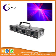 Hot sale Disco DMX512 Red Purple 4 eyes christmas party dj laser lights
