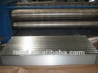 zinc Galvanized corrugated metal roof sheet/ steel roofing raw material