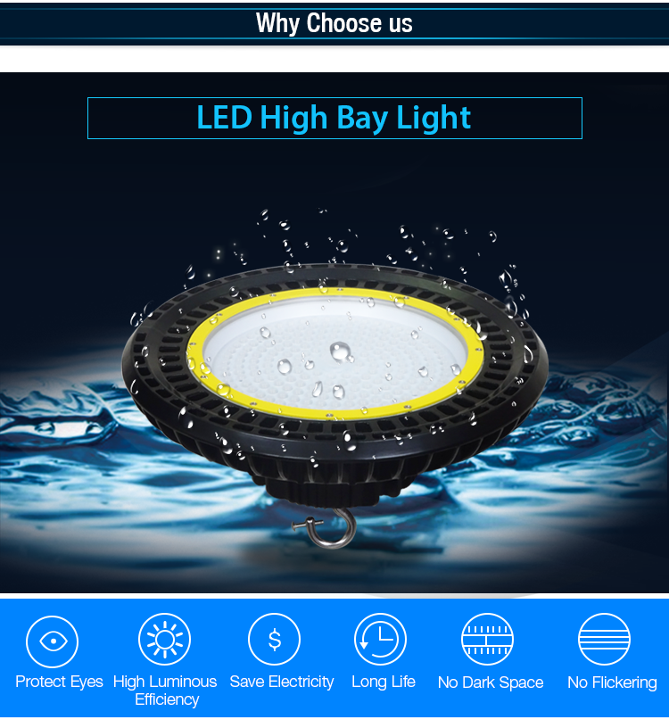 Industrial cheap smd 3030 100w watt led high bay light with 60degree