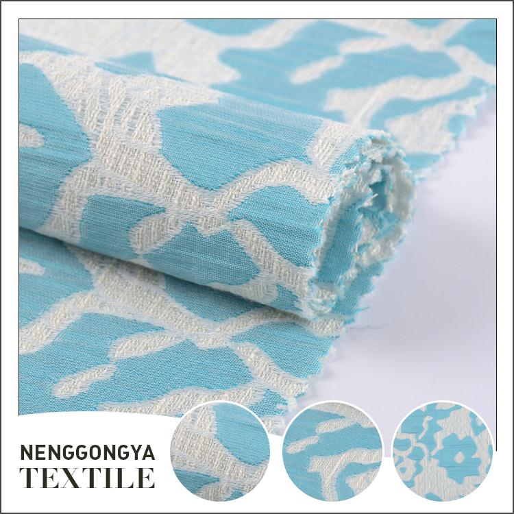 China factory Cheap Comfortable garment woven jacquard fabric