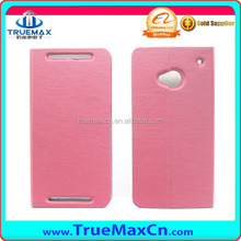 Flip Leather case for HTC One M7, for HTC one wallet case with different colors