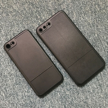 Groove Leather Coating Phone Case Plastic Material Blank for iphone 7 Hard Case