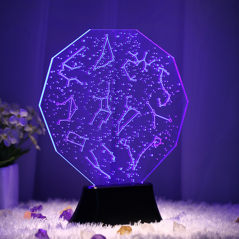 ZOGIFT 3D effect arcylic led night light,Twelve constellations -- Capricorn,led rechargeable hand lamp
