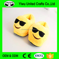 Emoji Slippers cute Plush slippers Unisex Winter Warm shoes Soft Ankle Bootie plus size house shoes