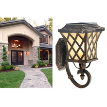 wireless low price 1w outdoor solar power well-design wall led lamp