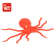 Wholesale kids playing squishy tpr soft rubber octopus toy from china