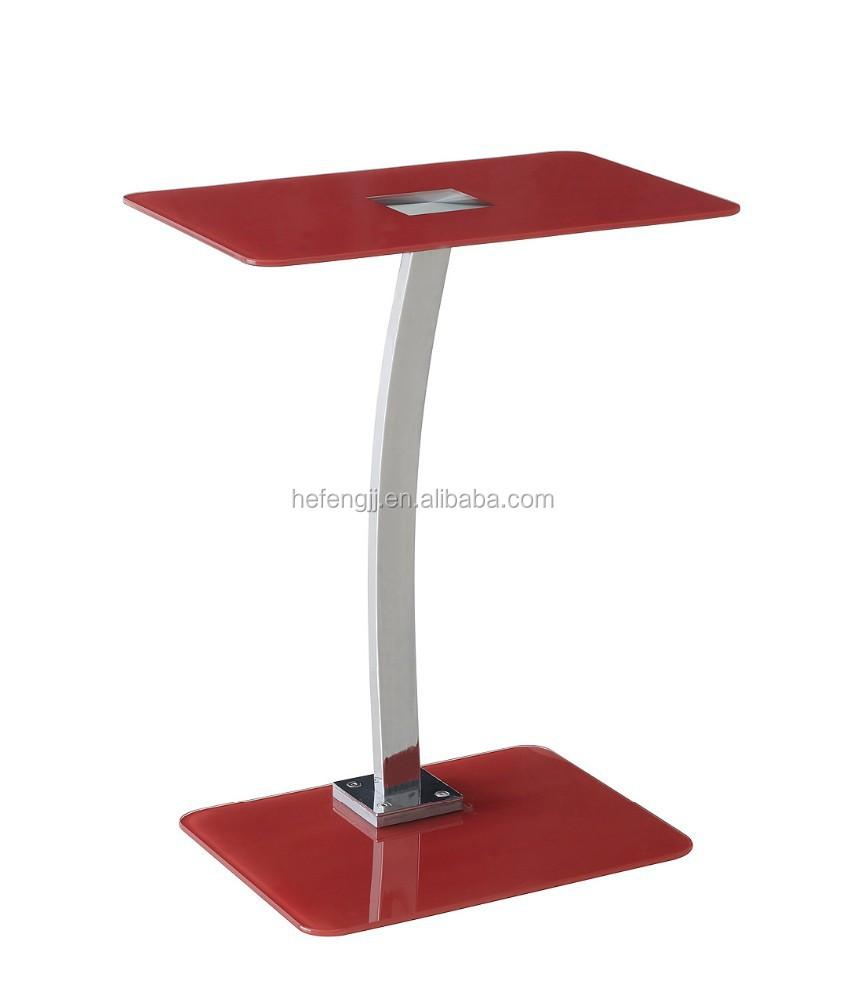 Top vente tremp verre table d 39 ordinateur portable table d - Table ordinateur verre ...