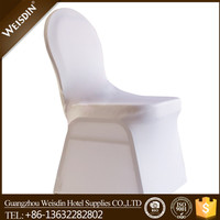 Wholesale universal white lycra spandex wedding cheap chair cover for plastic chairs