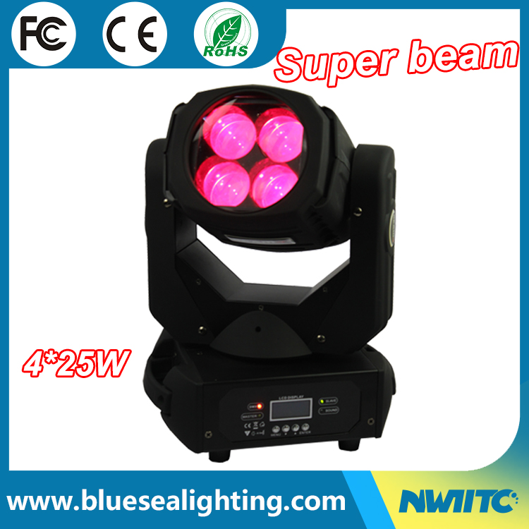 Auditorium stage lighting 4pcsX25W beam LED moving head light