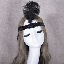 PM-493 Indian cosplay accessories feather headdress Custom decorated bright feathers