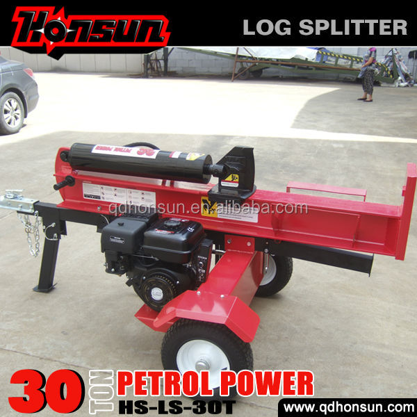 Germany Hanover Fair exhibited electric start Honda motor horizontal 30 tonne log splitter valve