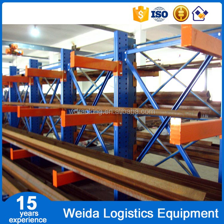 Single or Double Arm Rack Warehouse Storage Cantilever Racking