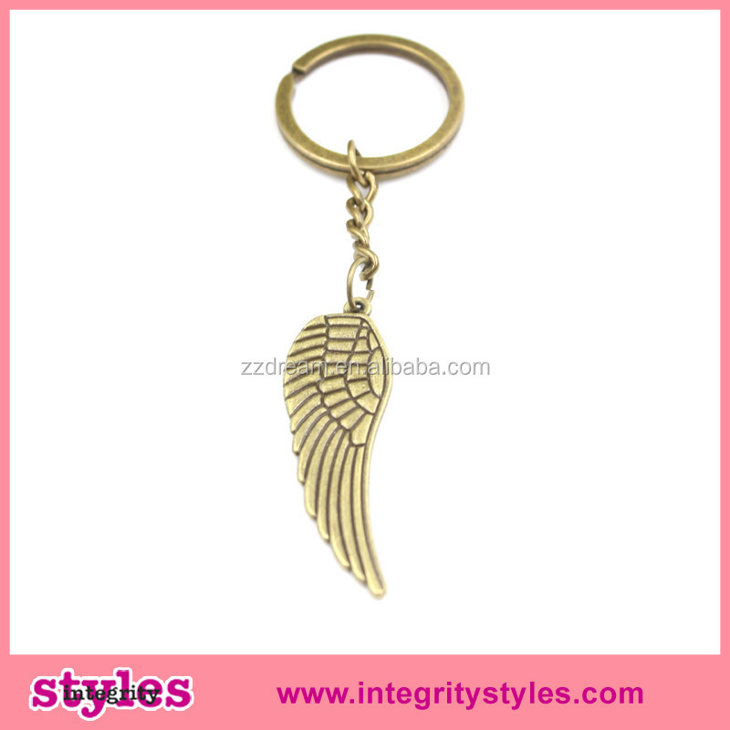 China best price Yiwu manufacturer wing metal keychain