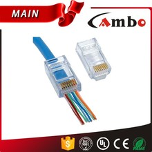 Suit For Cat6 Cable Plug Cat6 Connector 1U-50U Gold Plated Plug