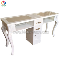 Factory wholesale wood nail salon beauty manicure table