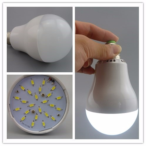 12V 2000 lumen dc rechargeable led home emergency led light bulb