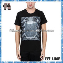discharge printing fresh colors mens short sleeve t shirt/ cotton o-neck t-shirt