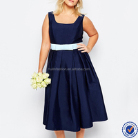 new fashion plus size bridesmaid dress sleeveless long evening dress for fat women
