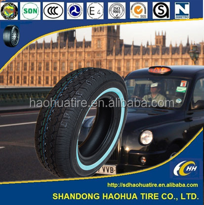 White sidewall tires for Taxi 185R14C 195R14C