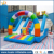 Huale mini outdoor TV cartoon slide inflatable cartoon character dry slide for kids