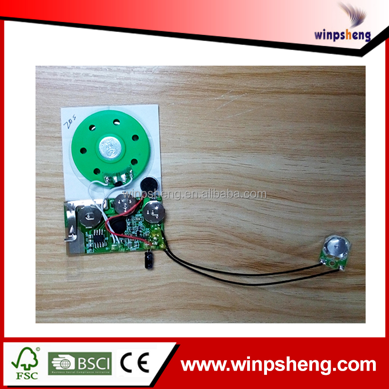 Mini recordable sound modules, sound chip for greeting card