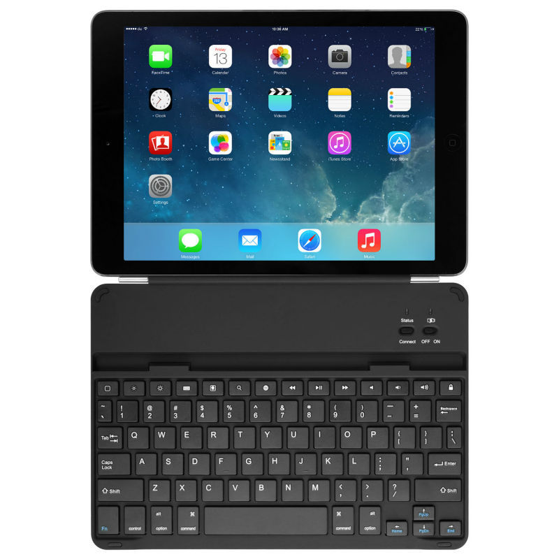For IPad Air 2 Case With Keyboard Metal Aluminum Bluetooth