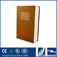 New design luxury decorative cardboard book safe box