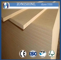 plain light color poplar MDF board 18mm