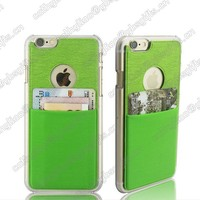 Transparent Clear Hard Slim Case with credit card holder for iphone 6