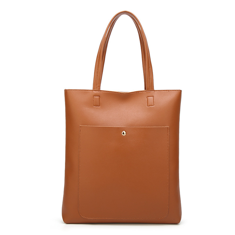 Japan and Korea fashion style tote bag, weekend shopping bag,simple designed lady zipper soft leather bags.