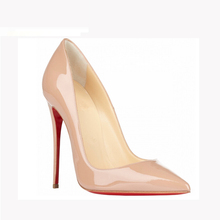 lady pencil nude heel red sole womens shoes