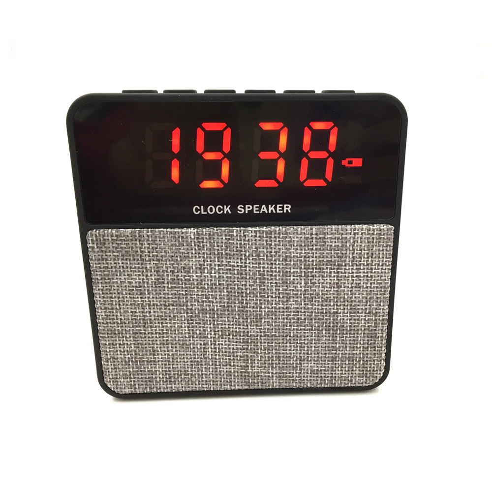 Made in china shenzhen OEM outdoor stereo music promotion wireless <strong>speaker</strong> with clock