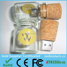 new products 2015 usb flash drive bottle with Cork, fast delivery bottle usb flash with Cork, bulk items cork bottle usb disk