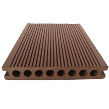 Anti-slip co-extruded gardening hollow plastic wood planks