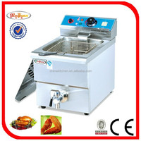 Commercial stainless steel fryer with oil tap DF-10L