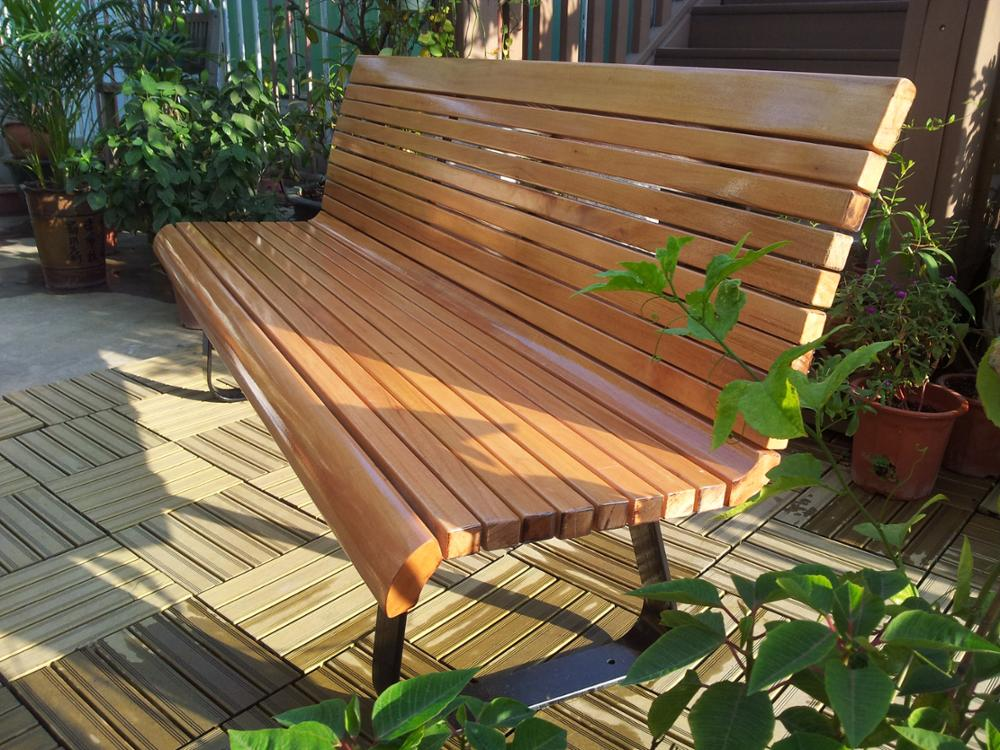 Camphor wood garden flower benches chair used outdoor wooden bench