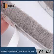Mohair material adhesive weather stripping
