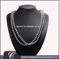 Women Accessories Jewelry Pearl Beaded Necklace Set