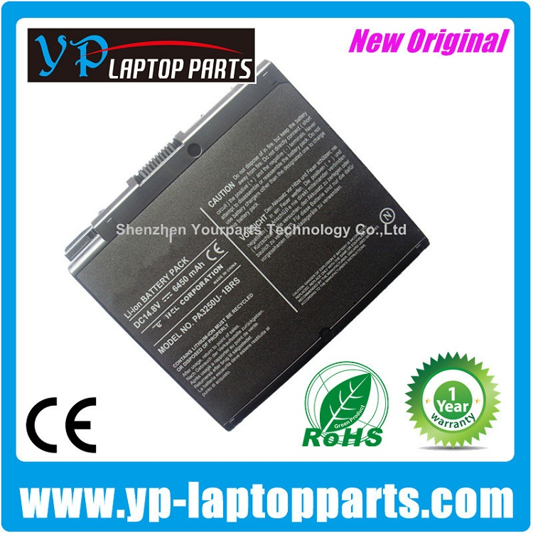 6450MAH PA3335U-1BAS PA3335U-1BRS PA3250U-1BAS PA3250U-1BRS PA3250U laptop battery for Toshiba Satellite A30 2430 2435 S2430