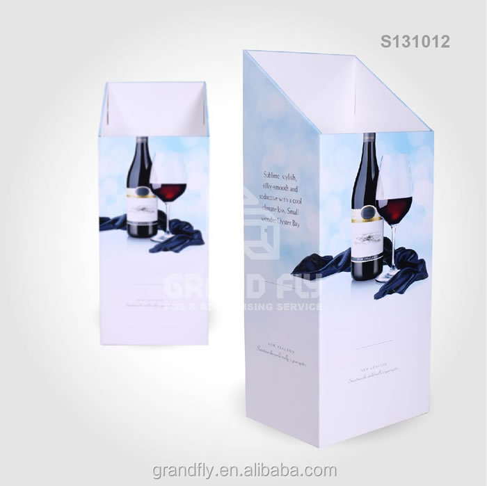 S131012 Corrugated Cardboard Dump Bin Display Counter Top Display for wine box wood