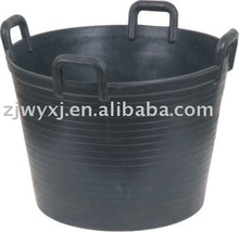 construction rubber buckets,large rubber container with handles,reach
