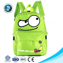2015Best quality wholesale emoji bag backpack fashion new kids child toy green cheap school backpack