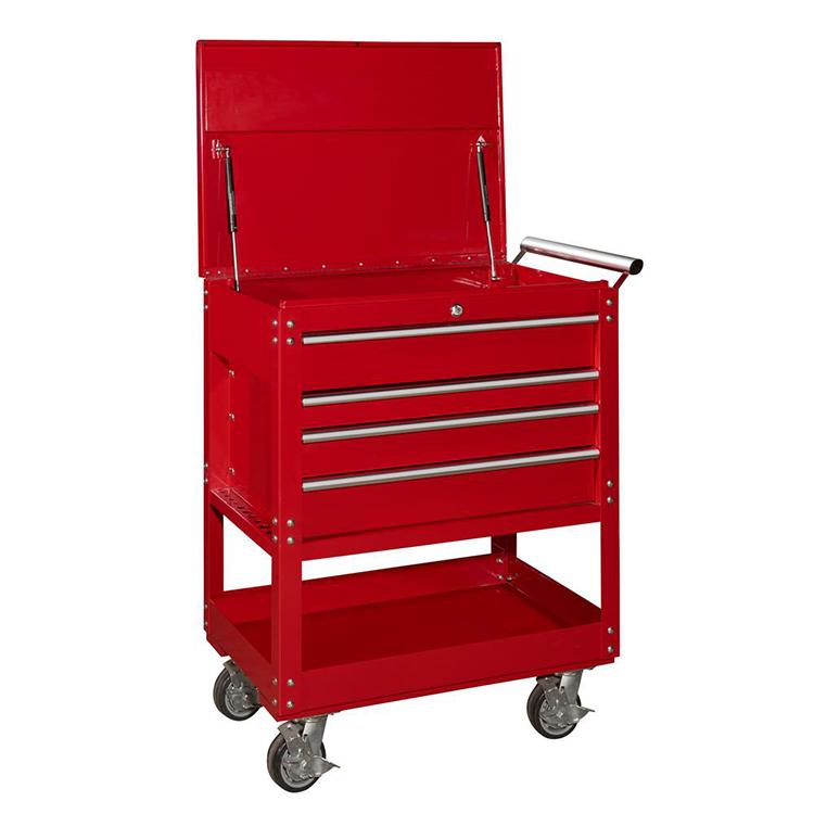 rolling tool cart mechanics slide top utility storage cabinet for ...