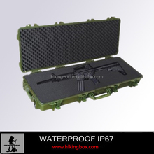 IP68 ABS Plastic Military Gun Case /Durable AR15 Rifle Case With Foam Insert 1150*442*158mm