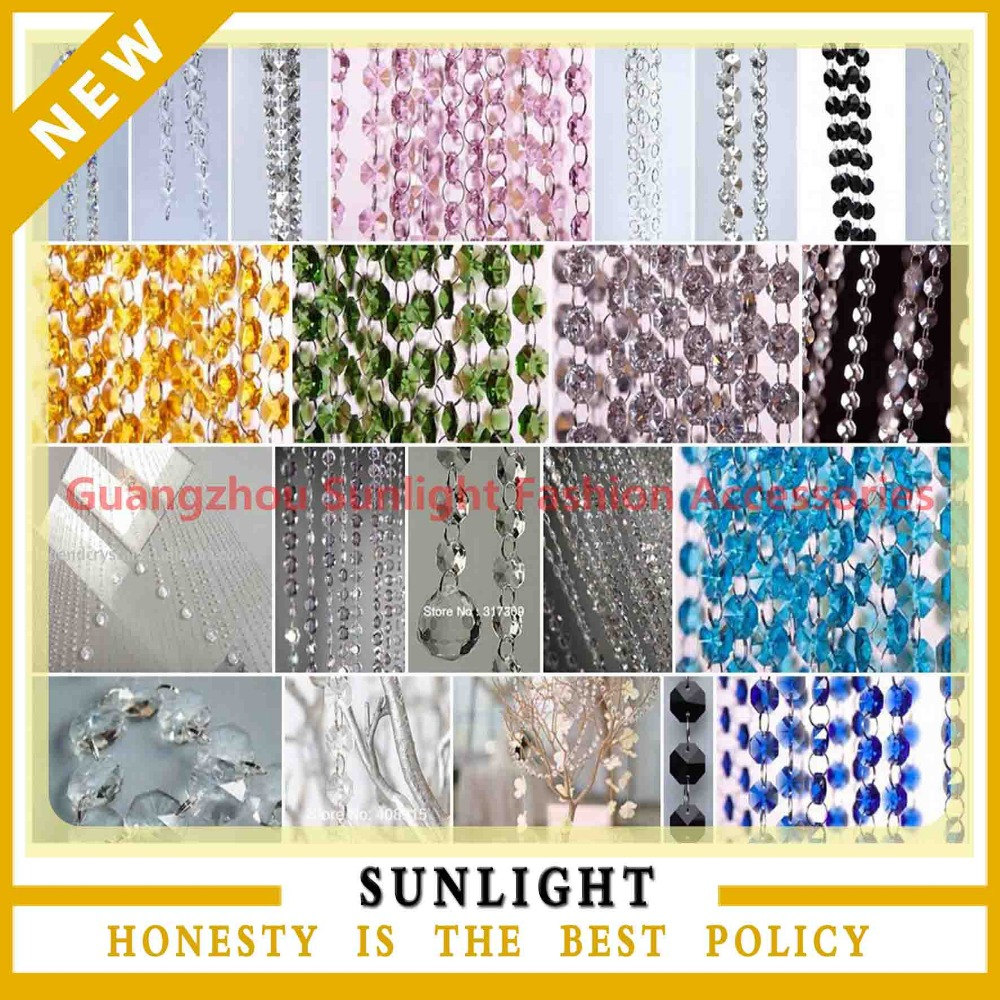 Acrylic Crystal Bead Garland Diamond Strand for Wedding mandap /backdrop